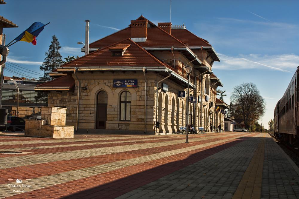 Photo in Architecture #romania #train #station #architecture
