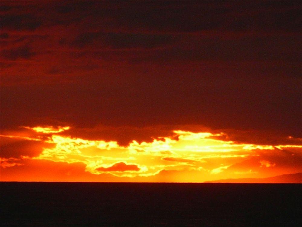 Photo in Random #island #- #sunset #tzia #hour