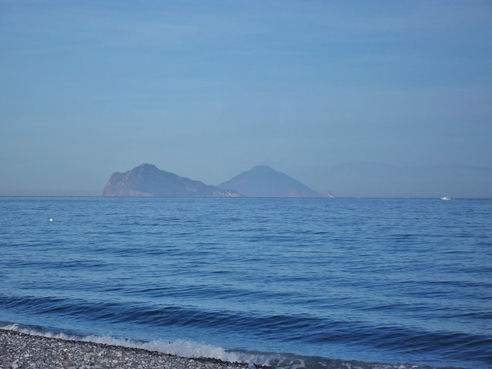 Photo in Sea and Sand #volcano #sea #summer #blue