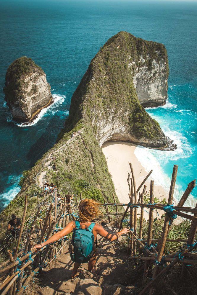 Photo in Landscape #kelingking #cliffs #beach #nusa penida #bali #nature #travel #indonesia #adventure #trekking