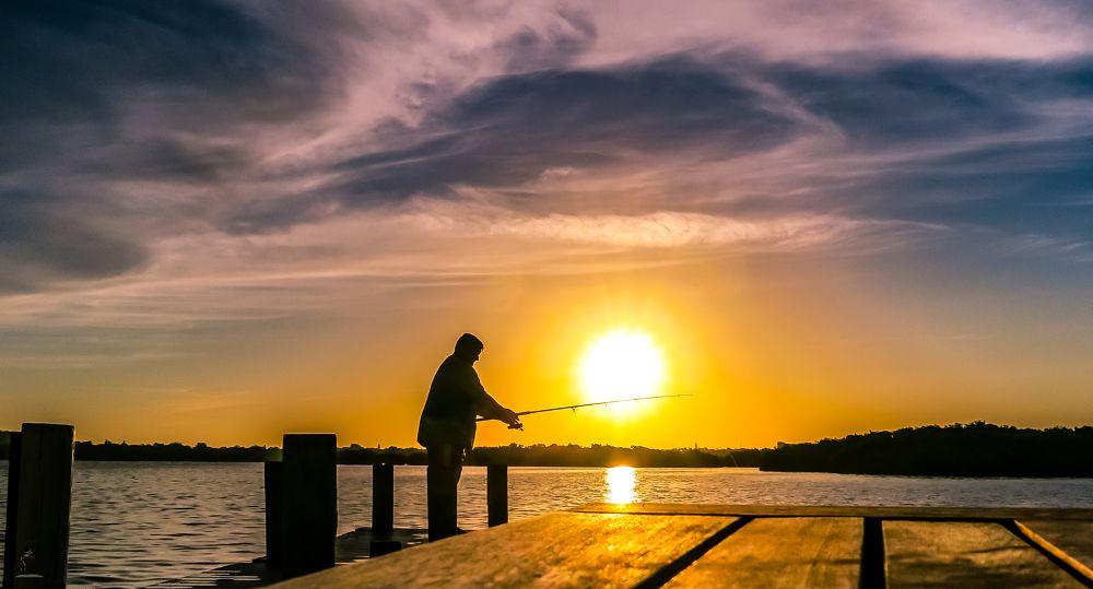 Photo in Random #orlando #sarasota #fishing #dusk #evening