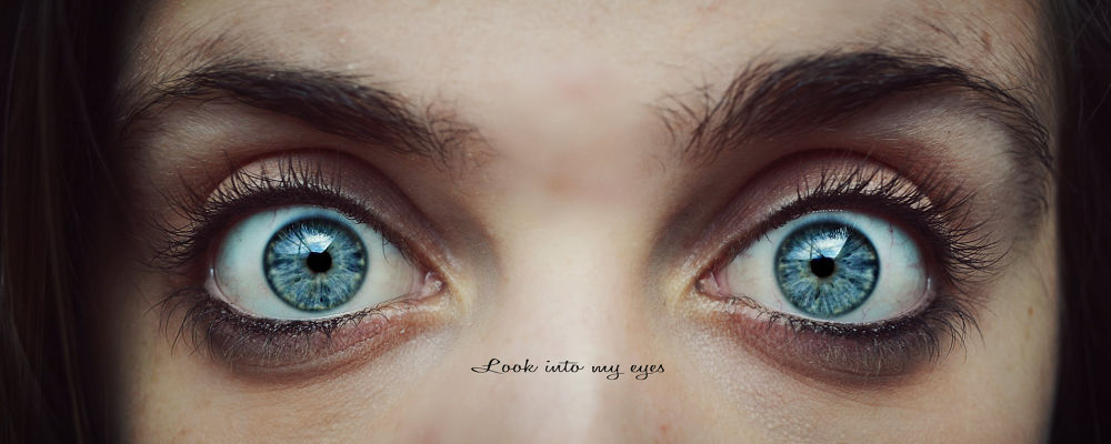 Photo in Portrait #my #girl #blue #look #eye #young #portrait #eyes #into #looking #message #myself #self portrait #expressive #typography #word