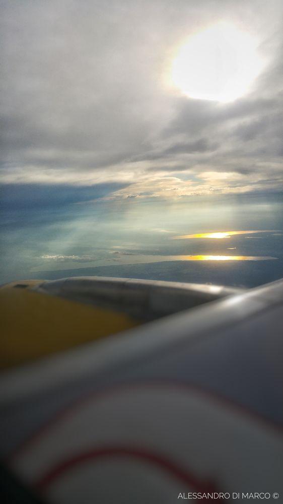 Photo in Travel #fly #plane #lake #landscape #sunlight