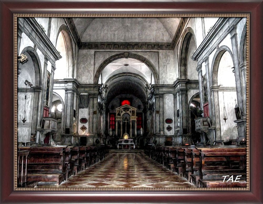 Photo in Interior #art #oil #painting #venice #italy #church #interior #fine #canvas