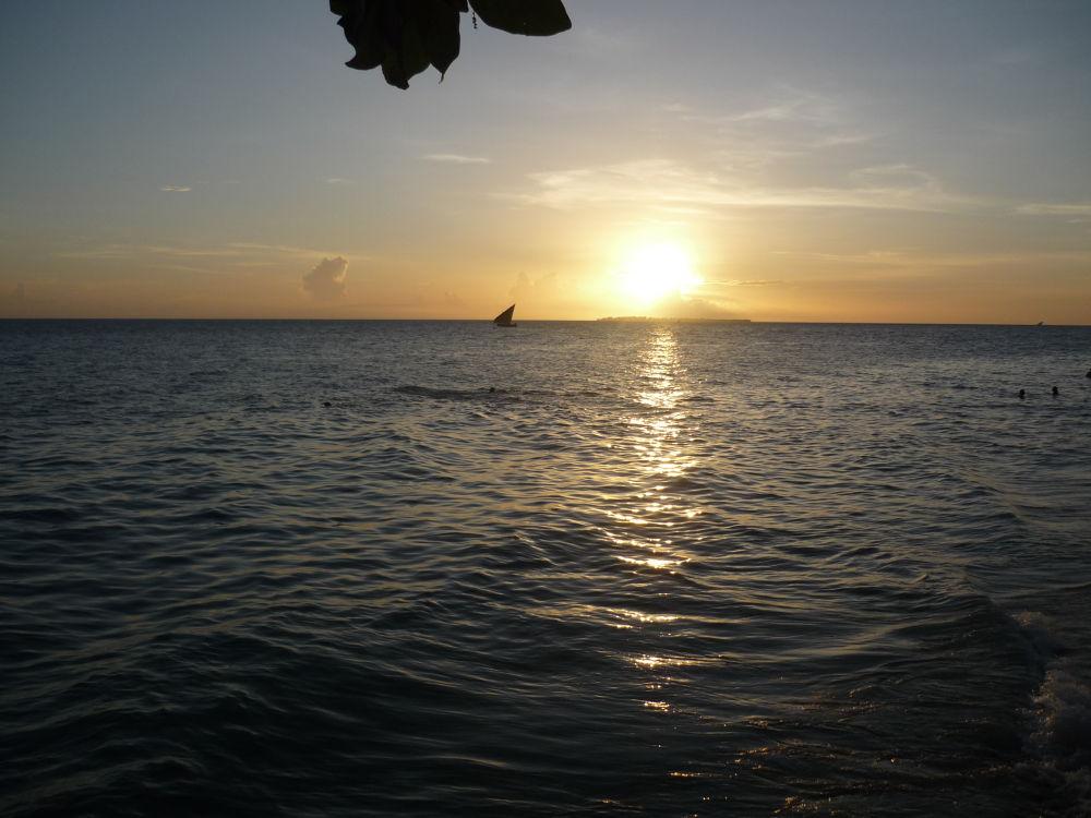 Photo in Random #beach #2009 #sunset #tanzania #stone town #dhow