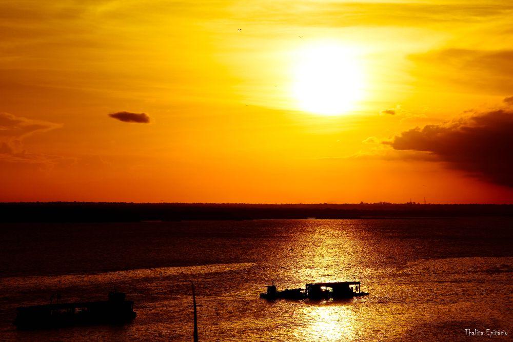 Photo in Random #rio #amazônia #barco #sol