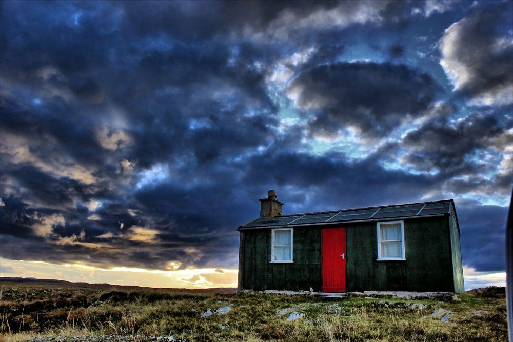Photo in Random #clouds house isle of lewis
