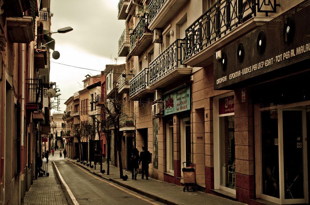 Photo in Random #street #town #city #clouds #light #sky #spain