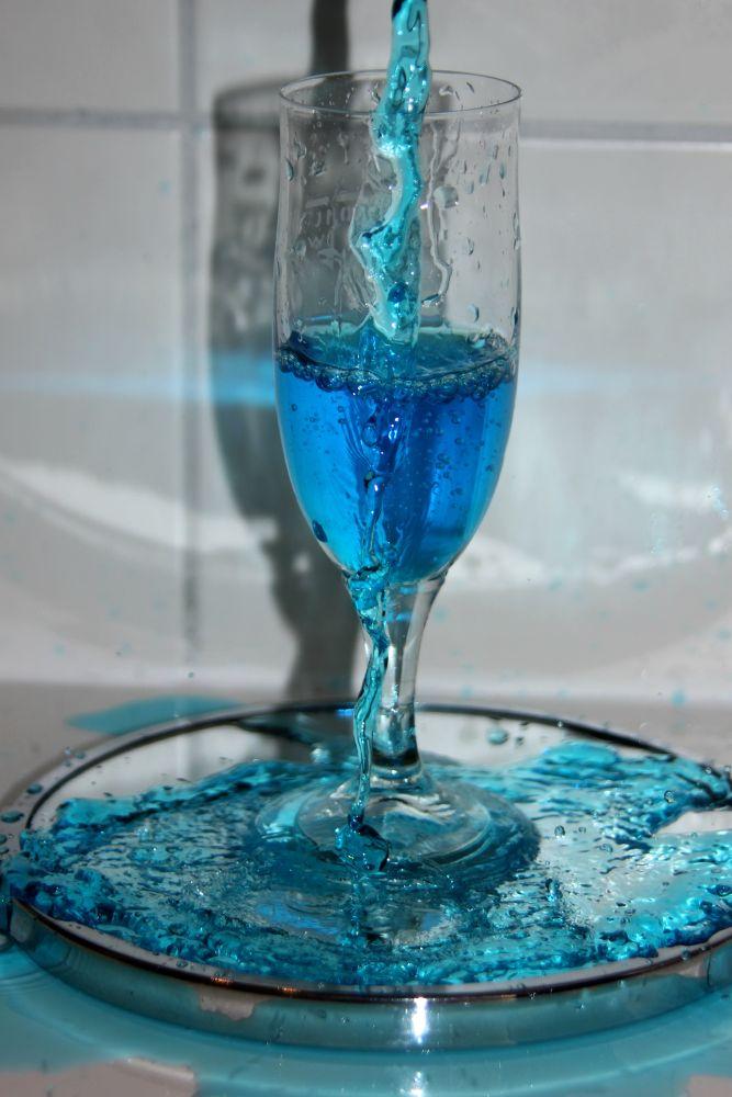 Photo in Random #glass #water #blue #mirror #ink