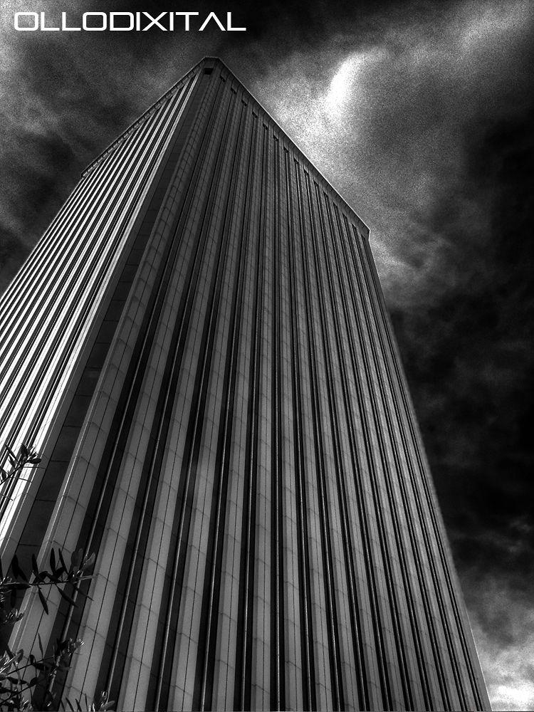 Photo in Random #picasso #building #spain #bw #españa #torre #madrid