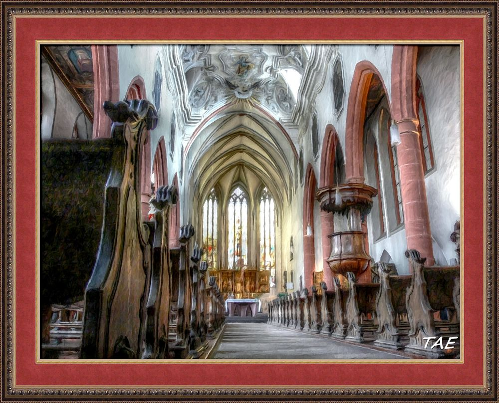 Photo in Interior #art #oil #painting #germany #cathedral #interior #fine #dom #hesse #canvas #limburg
