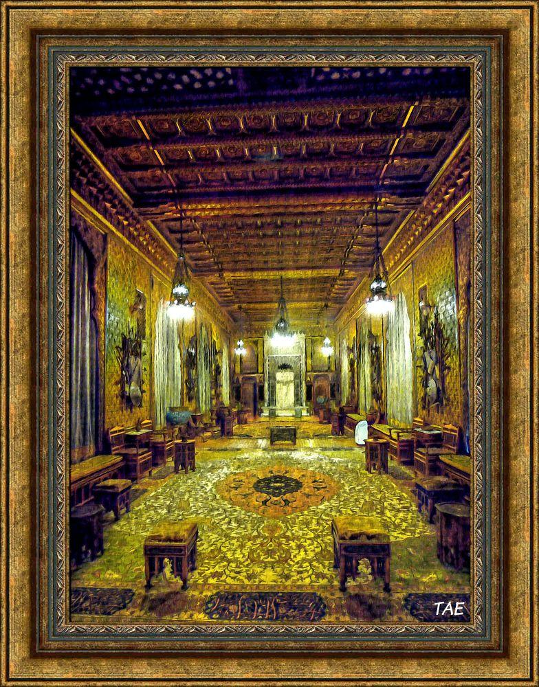 Photo in Random #art #oil #painting #castle #room #palace #furniture #romantic #fine #romania #canvas #peles #carpet