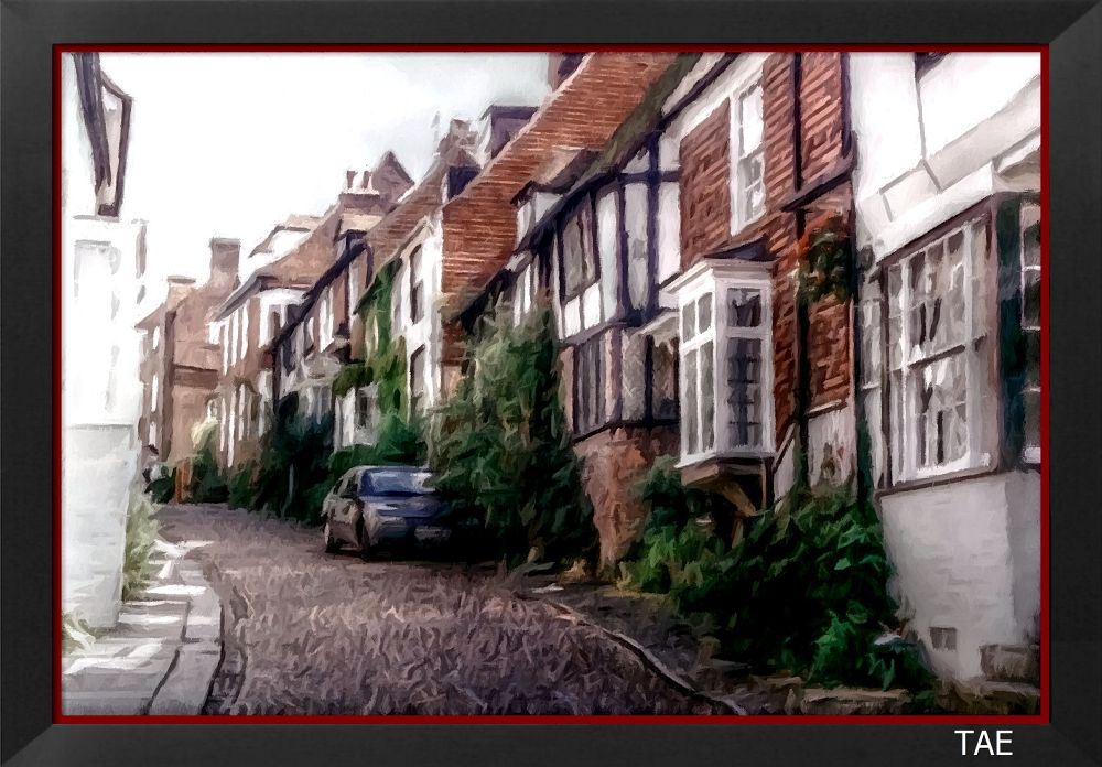Photo in Random #art #oil #street #painting #town #coast #england #fine #canvas #rye #smuggler