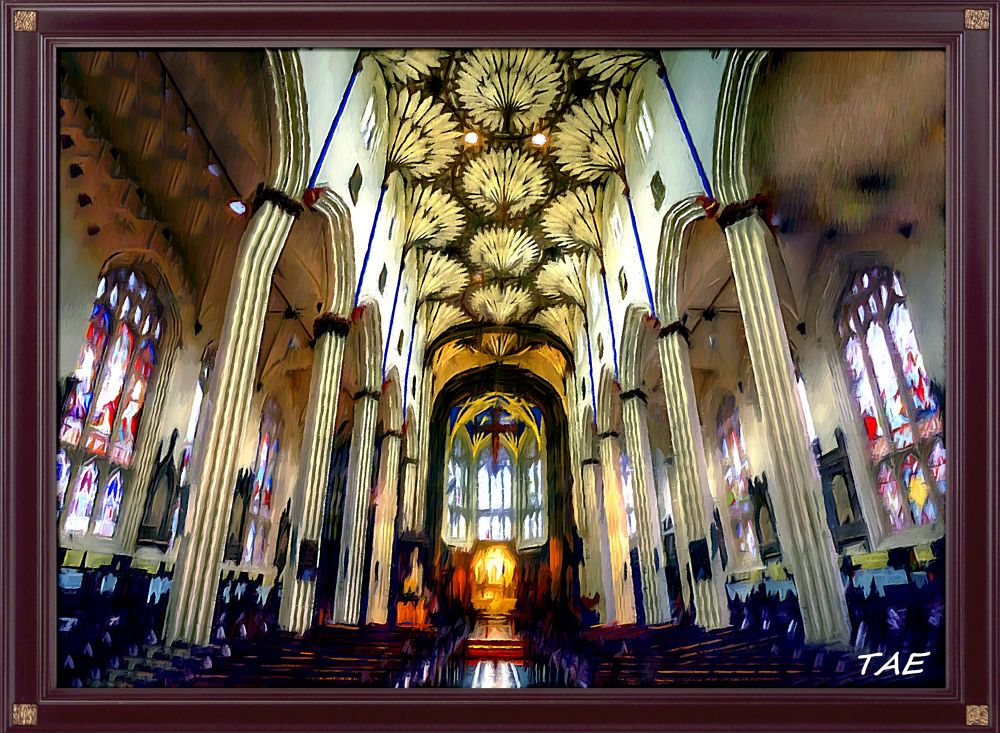 Photo in Random #art #oil #painting #church #gothic #scotland #edinburgh #fine #canvas