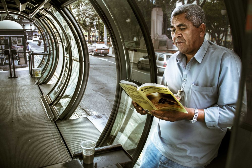 Photo in Portrait #man #old #portrait #book #read #paraná #curitiba