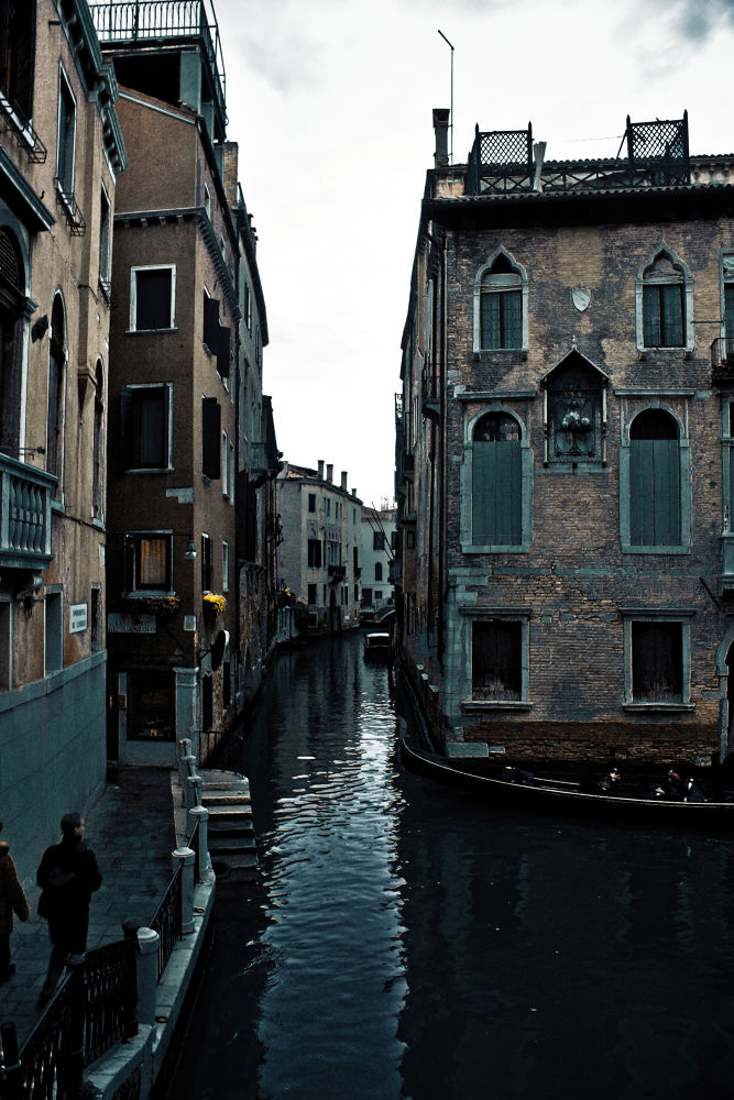 Photo in Architecture #cold #canal #river #venice #italy #wet #people #buildings #windows #walk #architecture #history #november
