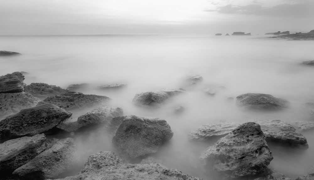 Photo in Landscape #beach #bali #indonesia #landscape #bw #longexposure #slowspeed