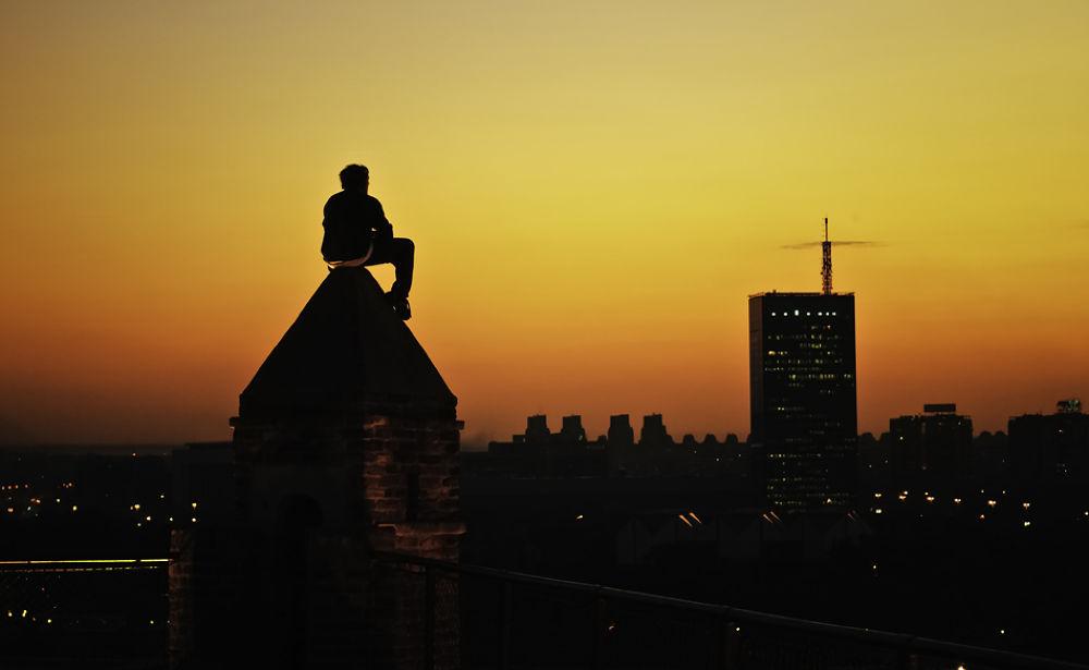 Photo in Cityscape #sunset #cityscape #serbia #belgrade #fortress #kalemegdan