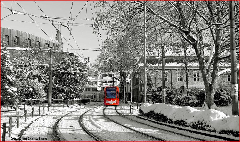 Photo in Random #winter #snow #tram #germany #cologne