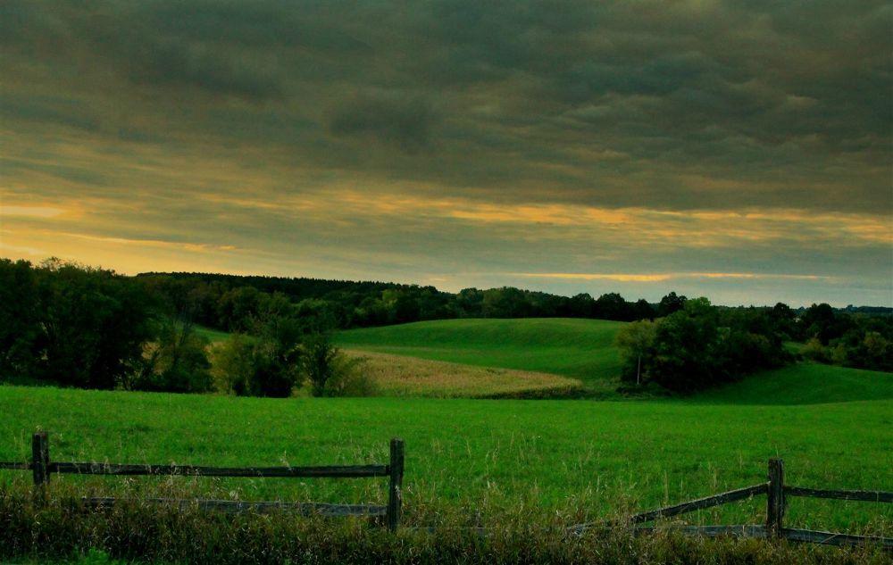 Photo in Rural #field #rural #fence #minnesota #haaland #waconia