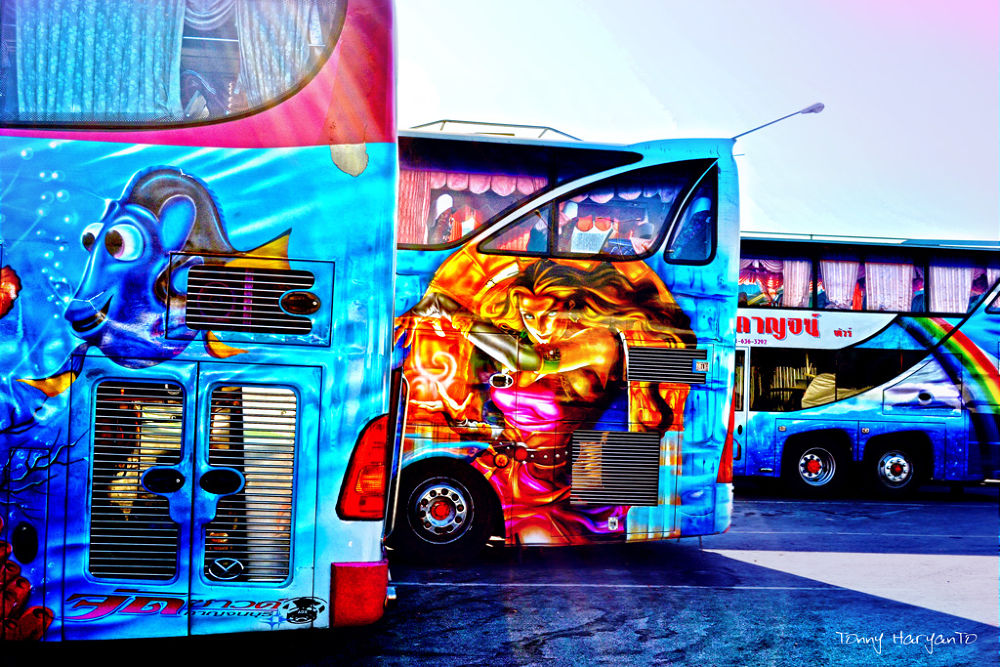 Photo in Abstract #art #bus #town #colour #abstract #automotive