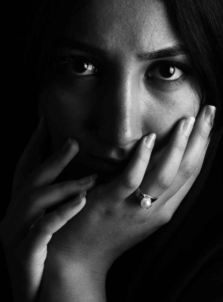 Photo in Black and White #girl #portrait #black and white #ypa2013