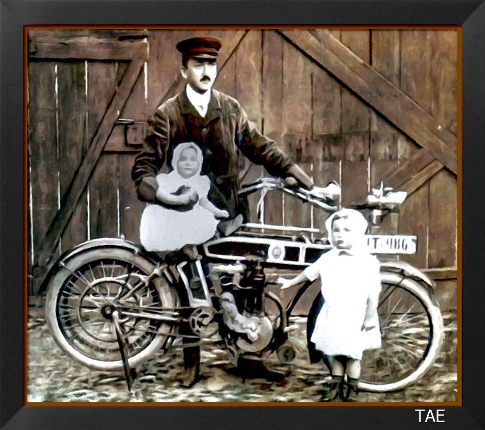 Photo in Random #art #oil #painting #old #children #germany #ancient #fine #motor #father #photograph #hesse #canvas #usingen #bikke #1920