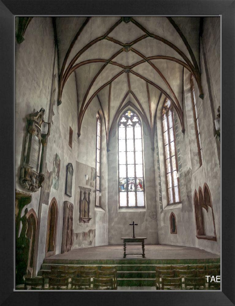 Photo in Interior #art #painting #church #switzerland #interior #fine #canvas #bern