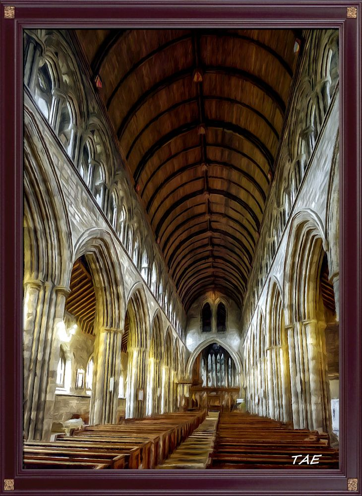 Photo in Interior #art #oil #painting #church #digital #scotland #cathedral #interior #fine #frame #canvas #framed #stirling
