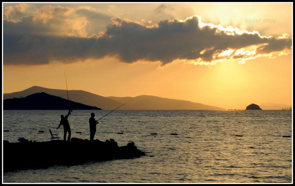 Photo in Random #sunset #fisherman #türkiye #bodrum #turgutreis