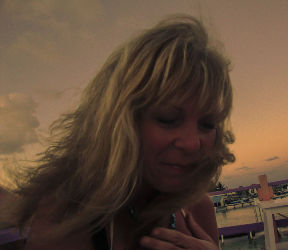 Photo in Random #rooftop #woman #belize #san pedro #haaland #ambergris caye #laughing