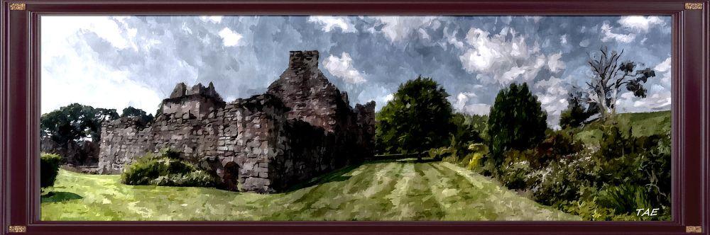 Photo in Random #art #oil #painting #view #castle #garden #digital #scotland #fine #canvas #edzell