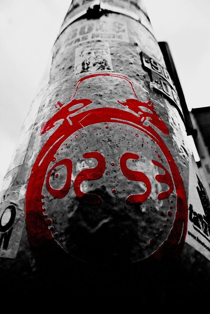 Photo in Urban #art #clock #red #alex #underground #urban