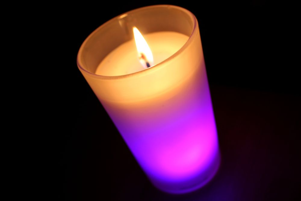 Photo in Random #fire #light #colour #candle #lilac