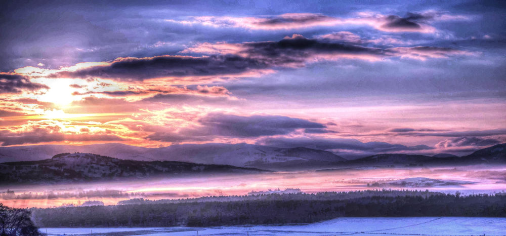 Photo in Random #landscape snow sunset