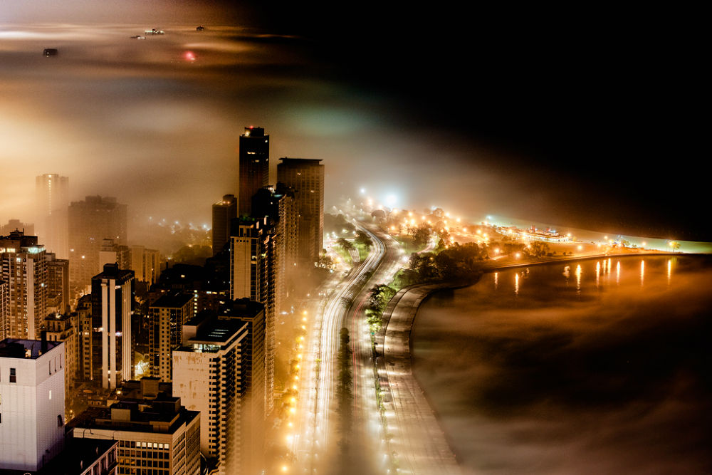 Photo in Random #nikon #lake #chicago #fog #jnhphotot #lake shore drive
