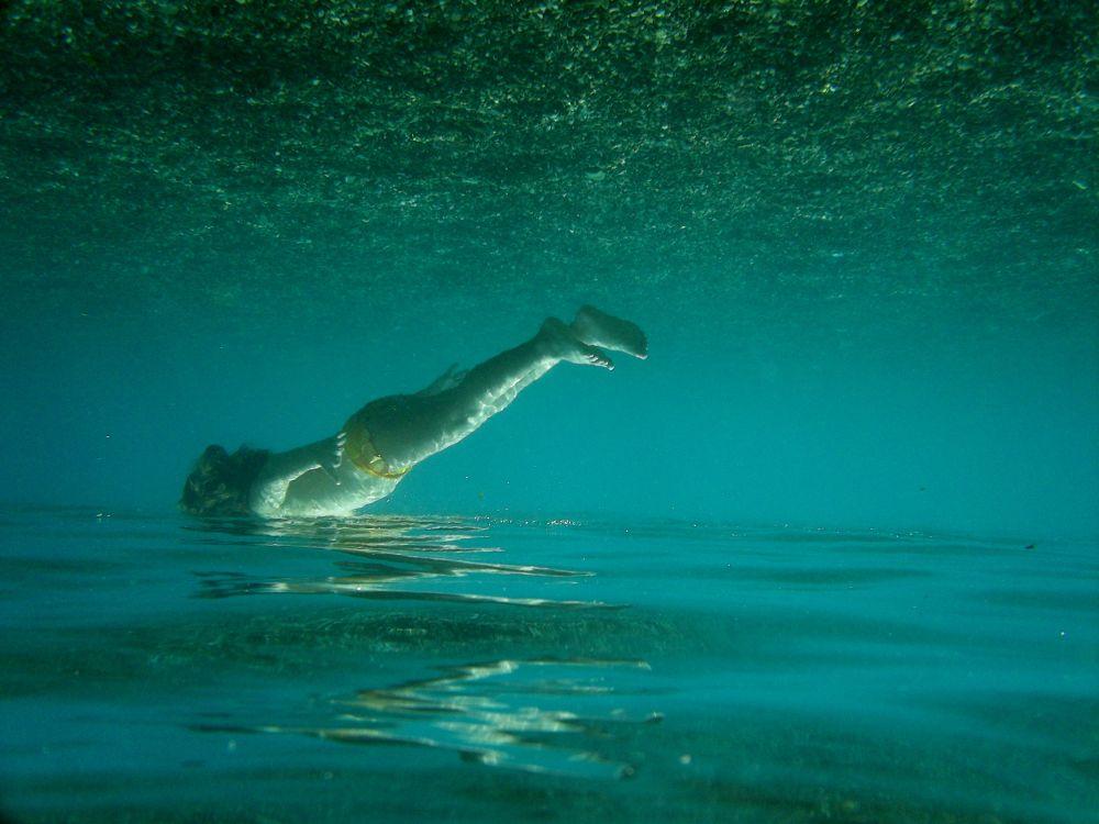 Photo in Random #girl #magic #water #child #blue #strange #sea #mirror #upside down #little child #swimming pool #sotto sopra #reality