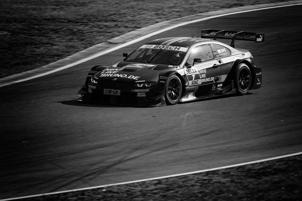 Photo in Black and White #cañón #bw #germany #black and white #bmw #motorsport #canon 5d #canon 5d mkiii #dtm #oschersleben #touring car