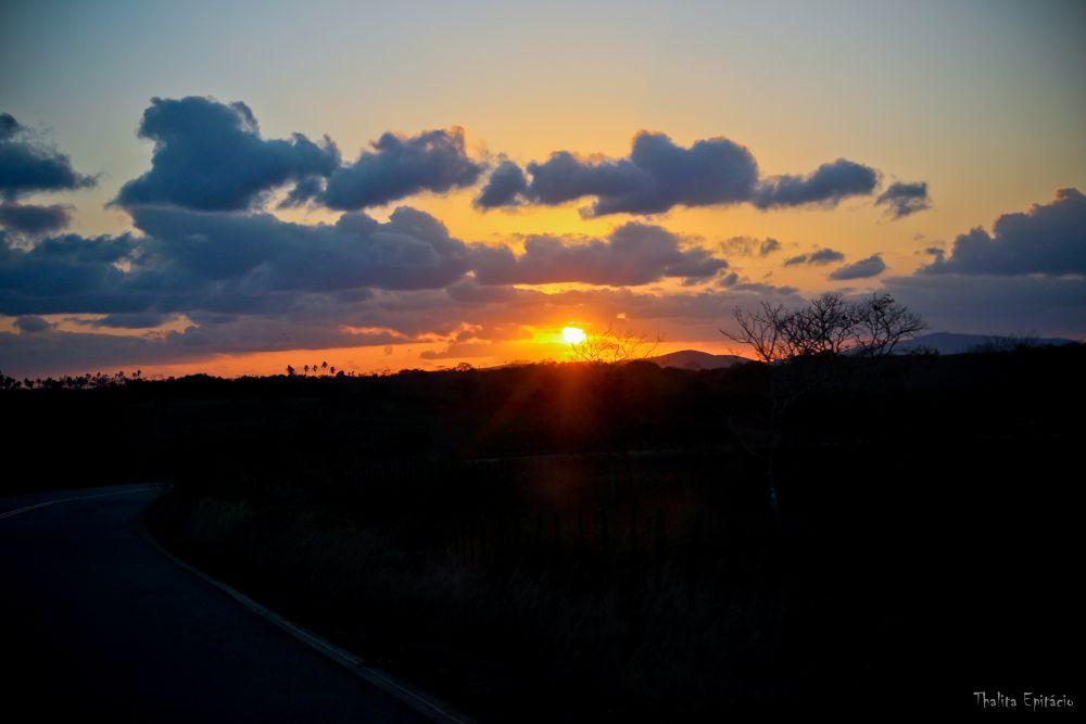 Photo in Random #estrada #sol #céu #nuvens