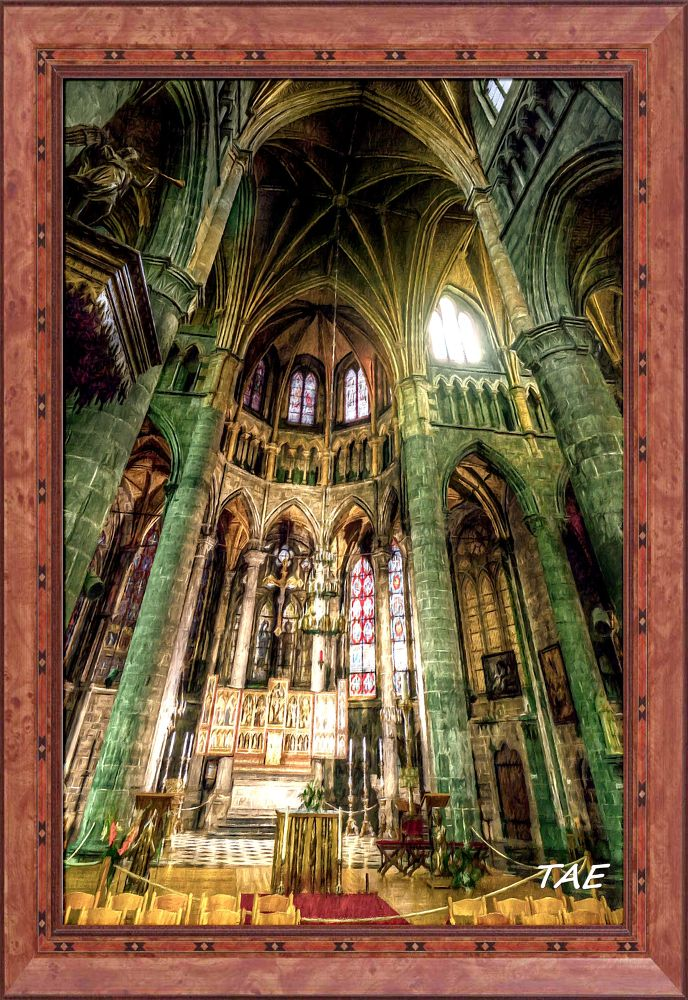 Photo in Interior #art #oil #painting #church #south #belgium #cathedral #interior #fine #altar #canvas #namur